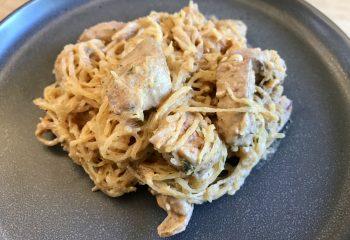 Buffalo Hot Wing Style Natural Chicken and Spaghetti Squash Casserole